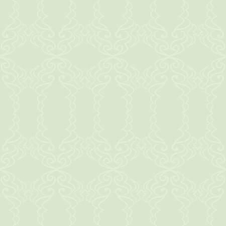 A light green elegant pattern on a slightly darker green background.  Ilustração