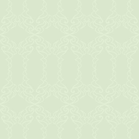 A light green elegant pattern on a slightly darker green background.  Illustration