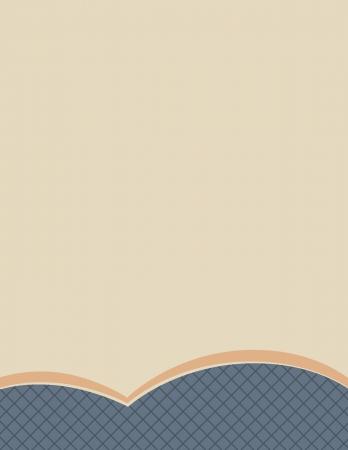 レターヘッド用に使用することができますシンプルかつプロフェッショナルひな形ページ、丸みを帯びた青色の波、暗い青い網模様の詳細とそれの  イラスト・ベクター素材