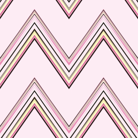 A seamless pattern of a striped chevron pattern on a pink background.