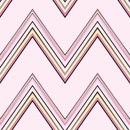A seamless pattern of a striped chevron pattern on a pink background.