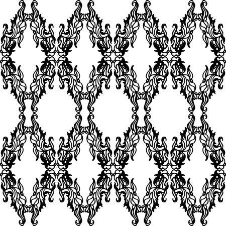 A beautiful ornate design in a diamond shape seamless pattern.