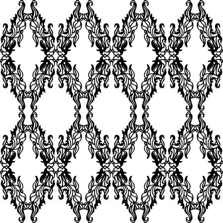 A beautiful ornate design in a diamond shape seamless pattern.