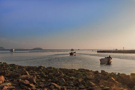 long island: Long Island Sunset Beach Stock Photo