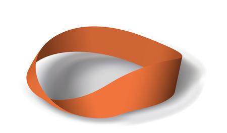 Paradoks: Mobius pasma z obrót 180 stopni.  ilustracji. Oczka sieci jest używany Ilustracja