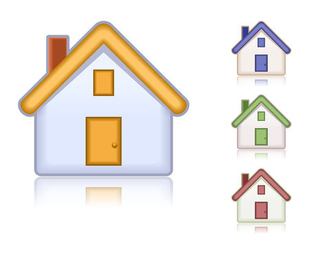 Set of colored houses. Web icons collection Stock Vector - 8572897