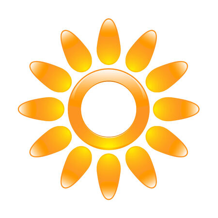 Glossy sun icon in the form of a ring Stock Vector - 8572908