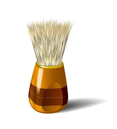 shaving brush: Shaving brush. Realistic  illustration