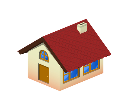 Isometric home icon with tiling Stock Vector - 8653871