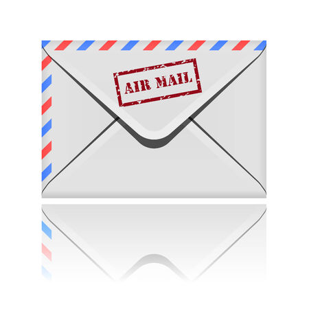 Closed envelope icon with reflection