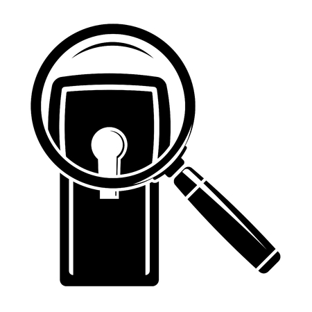 Keyhole under magnifier Stock Vector - 8893150