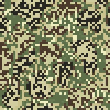 숫자 스타일의 위장 원활한 패턴 일러스트