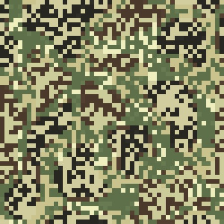Camouflage seamless pattern in digit style Illustration