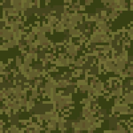 Green camouflage seamless pattern for wet, swampy area in digit style Illustration