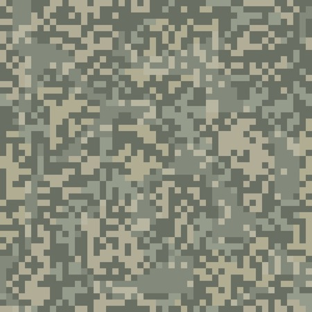Camouflage seamless pattern for arid area in digit style Vector