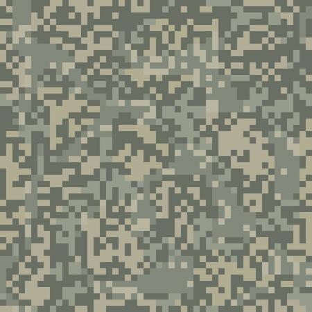 Camouflage seamless pattern pour la zone aride au style de chiffres Vecteurs