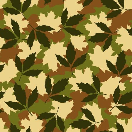 Foliage camouflage seamless pattern
