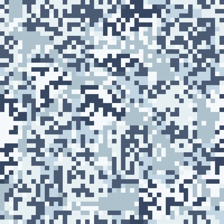 Blue camouflage seamless pattern in digit style