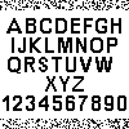 uppercase: Upper-case pixel letters and numbers. Easy to edit to make your own font