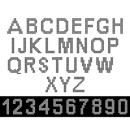 numbers: Upper-case pixel letters and numbers Illustration