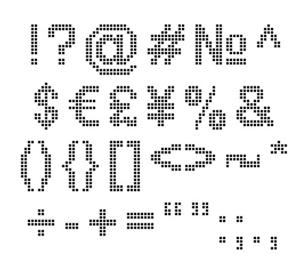 Set of some pixel font symbols