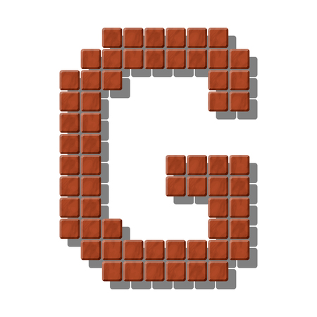 flagstone: Letter G made from realistic stone tiles