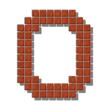 flagstone: Letter O made from realistic stone tiles