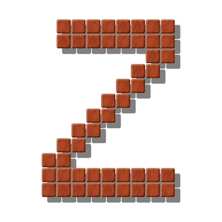 flagstone: Letter Z made from realistic stone tiles