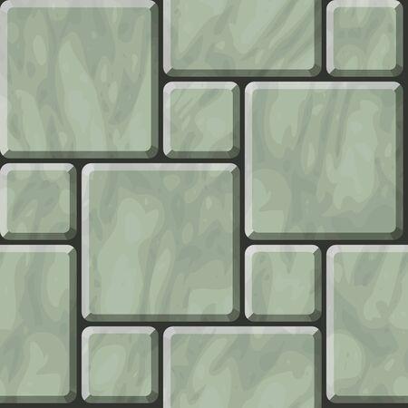 flagstone: Seamless texture of greenish polished stone tiles Illustration