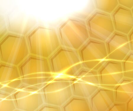 Bright abstract background with honeycomb Illustration