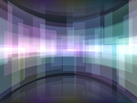 Abstract background with curved rectangulars