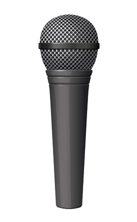 Microphone illustration on white background Illustration