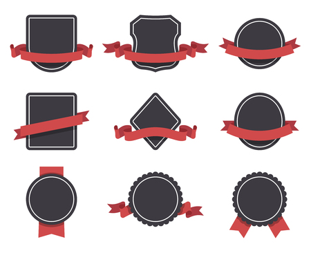 docket: Labels and ribbons vector set. Design elements