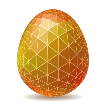 Abstract Easter egg. Triangular style