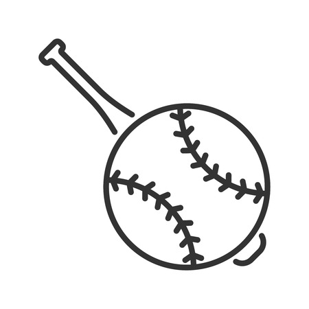 bunt: Line style baseball icon