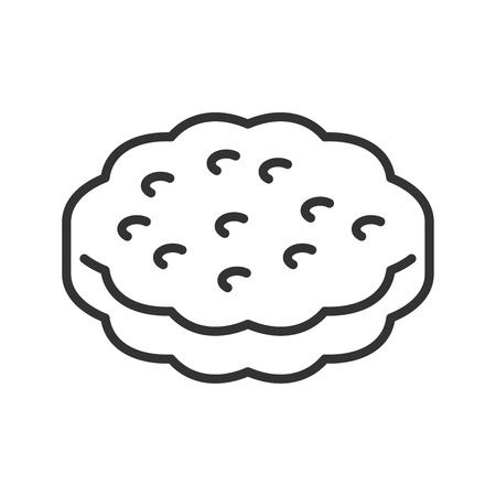 savoury: Cookie line style icon