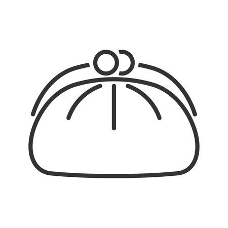 cosmetics bag: Cosmetics bag icon. Line style Illustration