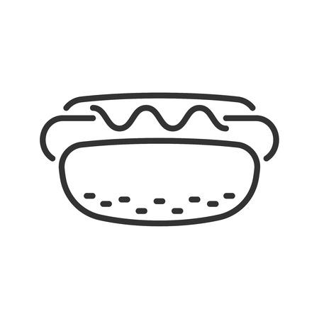 hot dog: Hot dog  line icon
