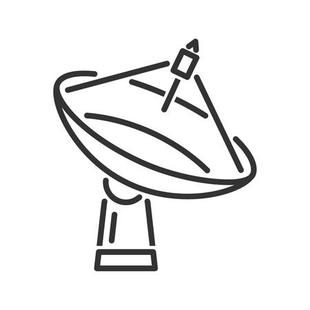 Radar telescope icon. Line style Illustration