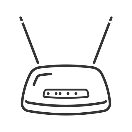 Wireless fidelity router icon. Line style