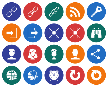 Collection of round icons: User Interface Vector illustration.