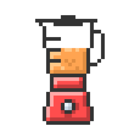 Outlined pixel icon of blender. Fully editable