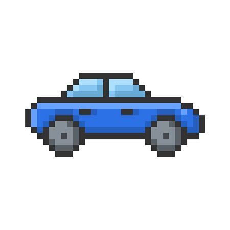 Outlined pixel icon of  car. Fully editable Ilustração