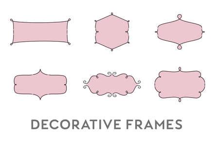 Decorative Frames Illusztráció