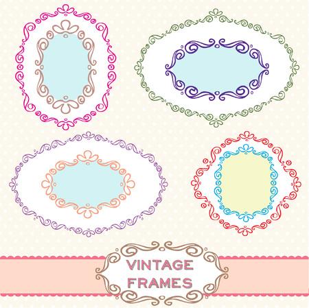 Vintage Frames  Set Иллюстрация