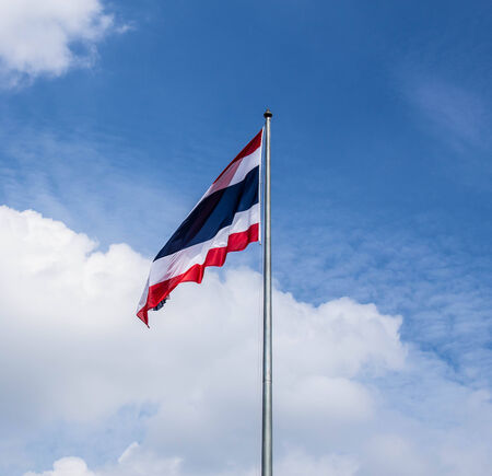 Flag of Thailand in the sky
