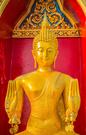 worshiped: Buddha is worshiped by the Buddhists. Stock Photo