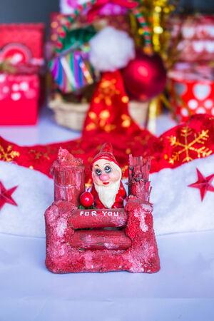 Santa Claus and the Christmas season starts. photo