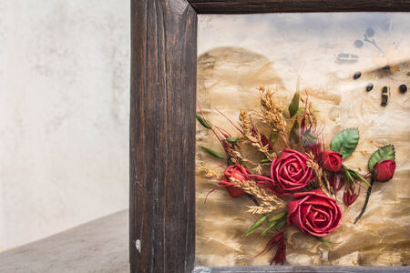 Flowers in the picture frames photo