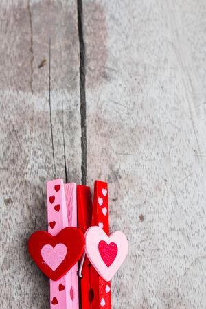 represent: Two hearts that represent love Stock Photo
